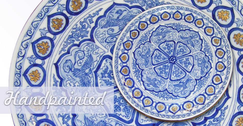 Kézzel festett porcelán - búvár