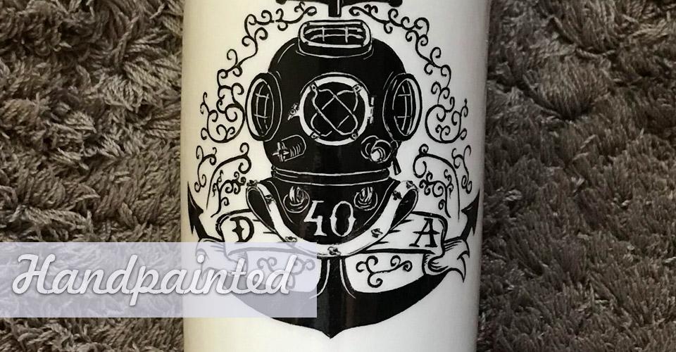 Kézzel festett porcelán születésnap